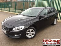 USED 2016 66 VOLVO V60 2.0 D3 BUSINESS EDITION 5d 148 BHP SAT NAV LEATHER FSH SATELLITE NAVIGATION. STUNNING BLACK MET WITH LEATHER TRIM. HEATED SEATS. CRUISE CONTROL. 16 INCH ALLOYS. COLOUR CODED TRIMS. PRIVACY GLASS. PARKING SENSORS. BLUETOOTH PREP. CLIMATE CONTROL WITH AIR CON. R/CD PLAYER. AUTO GEARBOX. MFSW. MOT 11/20. SERVICE HISTORY. SUV4X4 USED CAR CENTRE LS23 7FQ TEL 01937 849492 OPTION 2