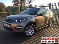 USED 2016 66 LAND ROVER DISCOVERY SPORT 2.0 TD4 SE TECH 5d 180 BHP PAN ROOF SAT NAV SIDE STEPS PRIVACY 7 SEATER 7 SEATER. PANORAMIC SUNROOF. SATELLITE NAVIGATION. STUNNING BROWN MET WITH BLACK LEATHER TRIM. ELECTRIC HEATED SEATS. CRUISE CONTROL. SIDE STEPS. 18 INCH ALLOYS. COLOUR CODED TRIMS. PRIVACY GLASS. PARKING SENSORS. REVERSE CAMERA. ELECTRIC TAILGATE. BLUETOOTH PREP. CLIMATE CONTROL INCLUDING AIR CON. MULTIMEDIA SYSTEM. R/CD/DAB RADIO. 6 SPEED MANUAL. MFSW. SERVICE HISTORY. PRESTIGE SUV CENTRE LS23 7FR. TEL 01937 849492 OPTION 1