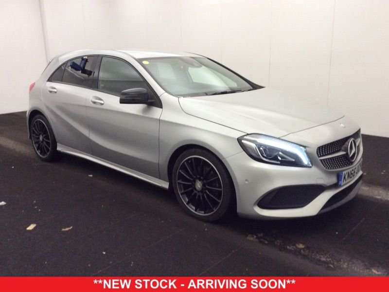 USED 2016 66 MERCEDES-BENZ A CLASS 2.1 A 200 D AMG LINE PREMIUM 5d 134 BHP +NIGHT PACK +SAT NAV +LEATHER