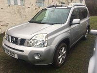 USED 2008 08 NISSAN X-TRAIL 2.0 AVENTURA DCI 5d 148 BHP SILVER WITH BLACK CLOTH TRIM. 17 INCH ALLOYS. COLOUR CODED TRIMS. PRIVACY GLASS. REVERSE CAMERA. AIR CON. R/CD PLAYER. MFSW. TOW BAR. AGE/MILEAGE RELATED SALE. COMPANY POLICY ALL VEHICLES IN THIS PRICE RANGE SOLD SPARES/REPAIRS ONLY.  P/X CLEARANCE CENTRE LS23 7FQ.  TEL 01937 849492 OPTION 3