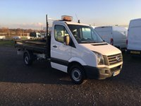 2016 VOLKSWAGEN CRAFTER CR35 TDI 109 SINGLE CAB STEEL BODIED TIPPER £12495.00