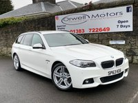 USED 2013 63 BMW 5 SERIES 3.0 530D M SPORT TOURING 5d 255 BHP BLACK LEATHER+HEATED FRONT SEATS+PROFESSIONAL NAVIGATION+M SPORT PLUS PACKAGE+FULL BMW SERVICE HISTORY