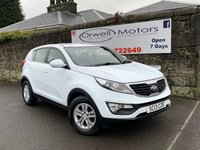 USED 2013 13 KIA SPORTAGE 1.6 1 5d 133 BHP BLUETOOTH+FULL SERVICE HISTORY+2 OWNERS FROM NEW+CRUISE CONTROL
