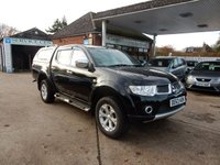 USED 2013 63 MITSUBISHI L200 2.5 DI-D 4X4 BARBARIAN LB DCB 175 BHP NO VAT,SAT NAV,BLUETOOTH,REAR CAMERA,LEATHER,NO VAT