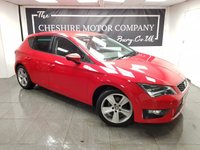 USED 2014 63 SEAT LEON 1.4 TSI FR TECHNOLOGY 5d 140 BHP + SAT NAV + PRIVACY GLASS