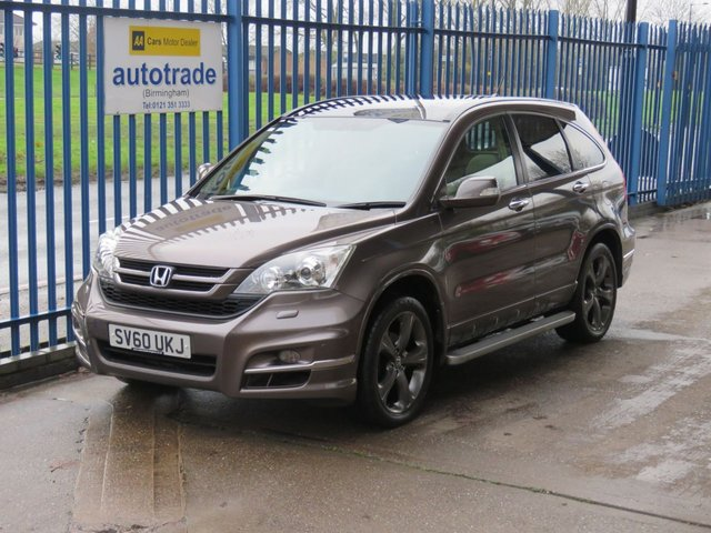 USED 2010 60 HONDA CR-V 2.2 I-DTEC EX 5dr Auto Sat nav Pan roof Leather Rear camera Cruise