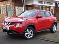 USED 2017 17 NISSAN JUKE 1.6 VISIA 5d 94 BHP LOW MILEAGE WITH FULL SERVICE HISTORY BALANCE OF NISSAN WARRANTY