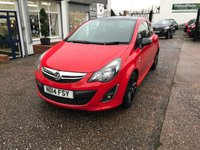 USED 2014 14 VAUXHALL CORSA 1.2 LIMITED EDITION 3d 83 BHP FULL SERVICE HISTORY-6 STAMPS-1 FORMER KEEPER-17 INCH ALLOYS-A/C