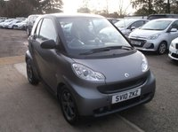 USED 2010 10 SMART FORTWO 1.0 PASSION MHD 2d 71 BHP Great Value Smart ForTwo, FSH ( 8 Stamps, 6 Main Dealer) and New MOT Will Be Put On!