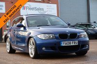 USED 2008 08 BMW 1 SERIES 2.0 120D M SPORT 3d 175 BHP 6 MONTHS AA WARRANTY INCLUDED