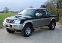 USED 2004 04 MITSUBISHI L200 2.5 4LIFE LWB DCB 4WD 114 BHP www.suffolkcarcentre.co.uk - Located at Ilketshall