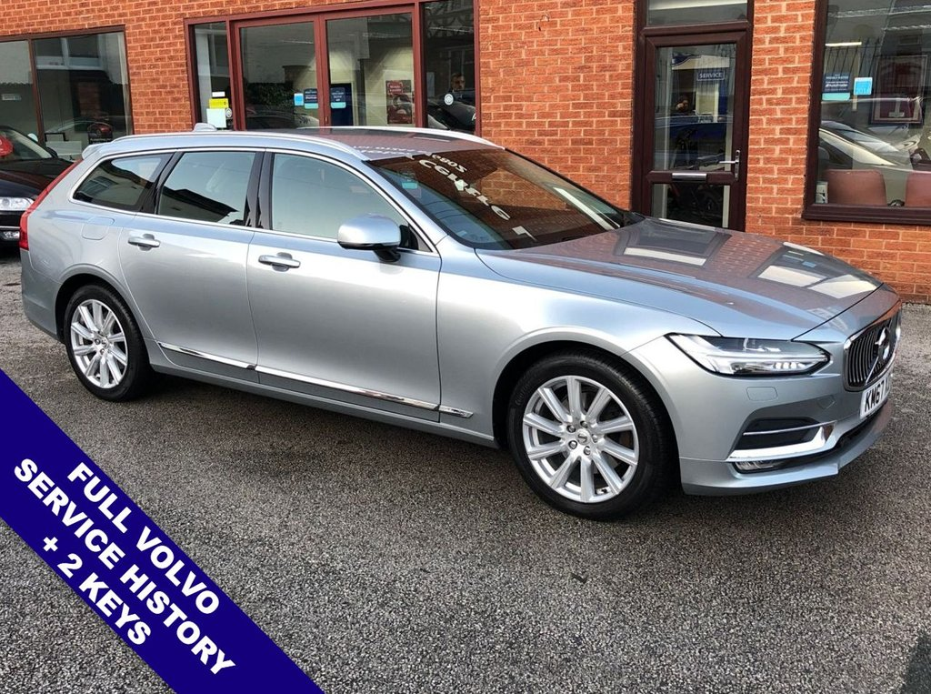 "USED 2017 67 VOLVO V90 2.0 D4 INSCRIPTION 5DOOR 188 BHP DAB   :   Sat Nav   :   USB Socket   :   Cruise Control   :   Bluetooth Connectivity      Climate Control / Air Con   :   Heated & Electric Front Seats   :   Full Black Leather Upholstery   Heated Steering Wheel   :   Automatic Tailgate   :   Front & Rear Parking Sensors                      18"" Alloy Wheels   :   Full Volvo Service History"