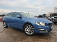 USED 2014 14 VOLVO V60 1.6 D2 SE LUX 5d 113 BHP AIRCON+CLIMATE+PARKING+20ROADTAX+2KEYS+LEATHER+17ALLOYS+MEDIA+