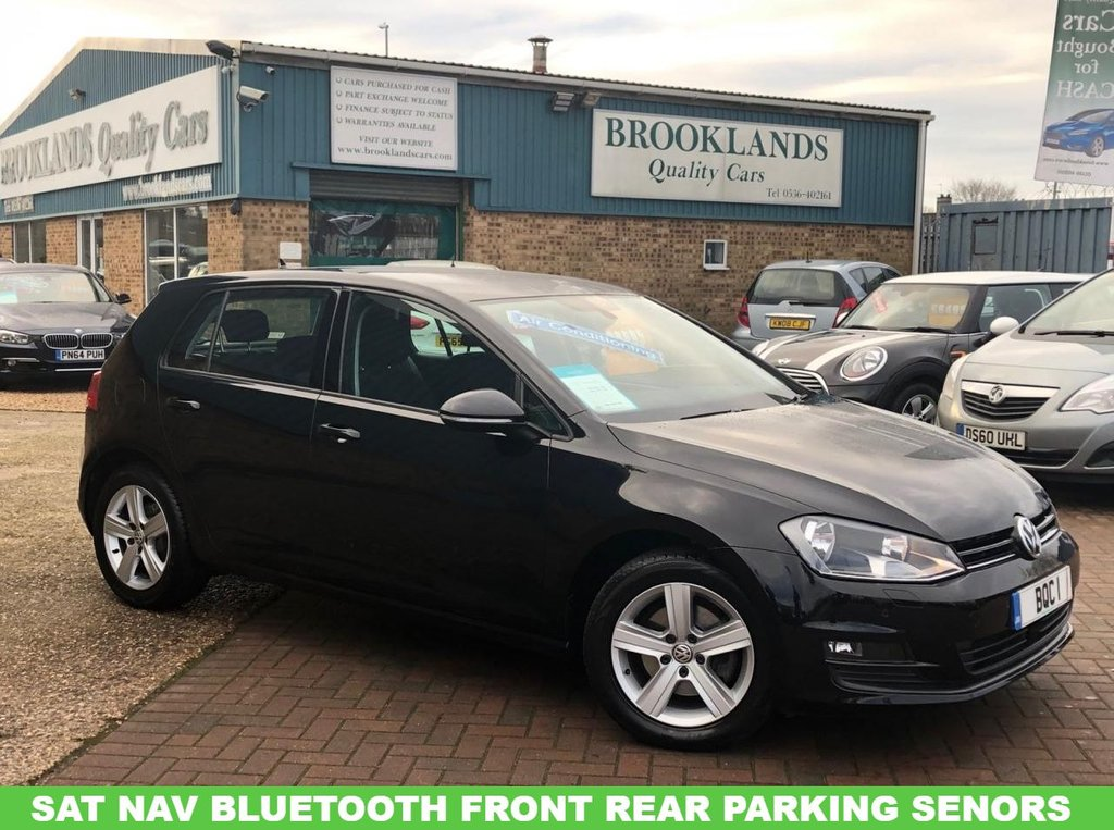 USED 2016 16 VOLKSWAGEN GOLF 1.6 MATCH EDITION TDI BMT FREE ROAD TAX !!! Free Road Tax Bluetooth Sat Nav Alloy Wheels Front & Rear Parking Sensors Part Exchange welcome  01536 402161
