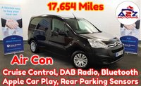 2017 CITROEN BERLINGO 1.6 BLUE HDi ENTERPRISE in Black with 17,654 Miles, Air Con, 3 Seats, Cruise Control, Bluetooth, DAB Radio, Apple Car Play, Rear Parking Sensors and more £7480.00