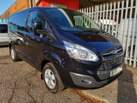 USED 2015 65 FORD TRANSIT CUSTOM 270 LIMITED L1 H1 SWB Low roof 125PS *AIR CON + ONLY 42k* AIR CON - BLUETOOTH - CRUISE CONTROL