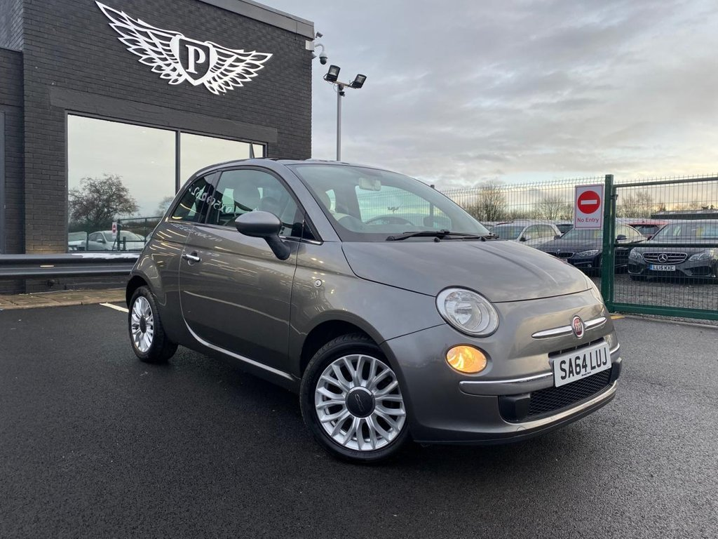 USED 2014 64 FIAT 500 1.2 LOUNGE 3d 69 BHP BLUE & ME | PAN ROOF | £30 VED