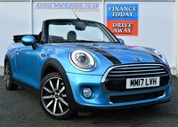 USED 2017 17 MINI CONVERTIBLE 1.5 COOPER 2d 134 BHP STUNNING IN BLUE