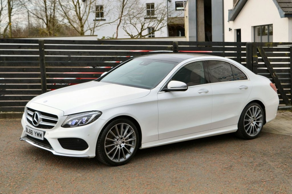 USED 2016 66 MERCEDES-BENZ C-CLASS 2.1 C250 D AMG LINE PREMIUM 4d 204 BHP 6 MONTHS RAC WARRANTY FREE + 12 MONTHS ROAD SIDE RECOVERY!