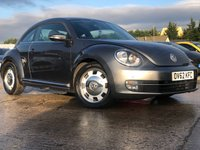 USED 2012 62 VOLKSWAGEN BEETLE 1.2 DESIGN TSI DSG 3d 103 BHP PARKING+ALLOYS+CLIMATE+CRUISE+MEDIA+ELECS+AUX+USB+CLEANCAR+AUTO+