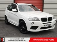 USED 2013 63 BMW X3 2.0 XDRIVE20D M SPORT 5d 181 BHP ELECTRIC LEATHER SEATS