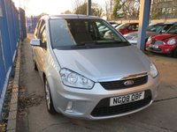 USED 2008 08 FORD C-MAX 1.6 ZETEC 5dr Air con Privacy Alloys Low Miles,Air Conditioning,Privacy glass and service history