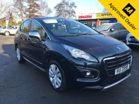 USED 2015 PEUGEOT 3008 1.6 E-HDI ACTIVE 5d 115 BHP AUTOMATIC WITH ONLY 31000 MILES IN GREAT CONDITION.WITH A FULL SERVICE HISTORY. APPROVED CARS ARE PLEASED TO OFFER THIS PEUGEOT 3008 1.6 E-HDI ACTIVE 5d 115 BHP AUTOMATIC WITH ONLY 31000 MILES IN GREAT CONDITION INSIDE AND OUT WITH A FULL SERVICE HISTORY SERVICED AT 9K,16K AND 23K AND WE WILL SERVICE THE CAR BEFORE WE SELL IT TO ITS NEW OWNER WITH A GOOD SPEC AND A FULLY AUTOMATIC GEARBOX,ONE NOT TO BE MISSED.