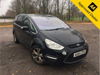 2014 FORD S-MAX 2.0 TITANIUM TDCI 5d 161 BHP IN METALLIC BLACK WITH 56,000 MILES AND A FULL SERVICE HISTORY! £9999.00