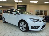 USED 2016 66 SEAT LEON 2.0 TDI FR TECHNOLOGY 5d 184 BHP FULL SERVICE HISTORY + SATELLITE NAVIGATION + BLUETOOTH + CRUISE CONTROL + CLIMATE CONTROL + RDS RADIO + PRIVACY GLASS + DAYTIME RUNNING LIGHTS + ELECTRIC FOLDING MIRRORS + REMOTE CENTRAL LOCKING + LOW ROAD TAX + LOW MILES + GREAT MPG