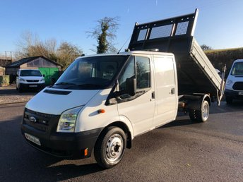 2012 FORD TRANSIT T350 DOUBLE CAB TIPPER WITH TAIL LIFT 125PS SOLD