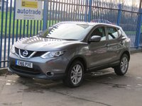USED 2016 16 NISSAN QASHQAI 1.5 DCI ACENTA 5dr Sat nav Rear camera Bluetooth & audio Cruise SatNav,Diesel,Low miles,cruise control,reverse parking camera,History