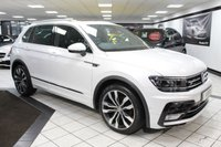 USED 2017 17 VOLKSWAGEN TIGUAN 2.0 TSI R LINE BMT 4MOTION DSG 180 BHP 1 OWNER FVWSH PAN ROOF VIRTUAL