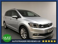 USED 2016 16 VOLKSWAGEN TOURAN 1.4 SEL TSI BLUEMOTION TECHNOLOGY DSG 5d 148 BHP VW HISTORY - 1 OWNER - 7 SEATS - SAT NAV - PARKING SENSORS - AIR CON - BLUETOOTH - DAB - CRUISE - PRIVACY