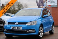 USED 2014 14 VOLKSWAGEN POLO 1.2 SEL TSI 3d 109 BHP SATELLITE NAVIGATION, FSH + FINANCE AVAILABLE