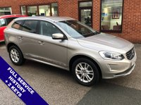 USED 2014 14 VOLVO XC60 2.4 D5 SE LUX NAV AWD 5DOOR 212 BHP DAB Radio   :   Satellite Navigation   :   USB & AUX Sockets   :   Car Hotspot / WiFi     Cruise Control   :   Phone Bluetooth Connectivity   :   Climate Control / Air Conditioning     Heated Front Seats   :   Electric Driver Seat   :   Auto Tailgate   :   Rear Parking Sensors                 2 Keys   :   Full Service History