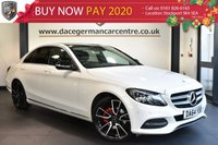 """USED 2014 64 MERCEDES-BENZ C CLASS 2.1 C220 BLUETEC SPORT 4DR 170 BHP excellent service history Finished in a stunning polar white styled with 19"""" alloys. Upon opening the drivers door you are presented with full black leather interior, excellent service history, satellite navigation, bluetooth, reversing camera, heated seats, active park assist, cruise control, rain sensors, DAB radio, electric folding mirrors, parking package, mirror package"""