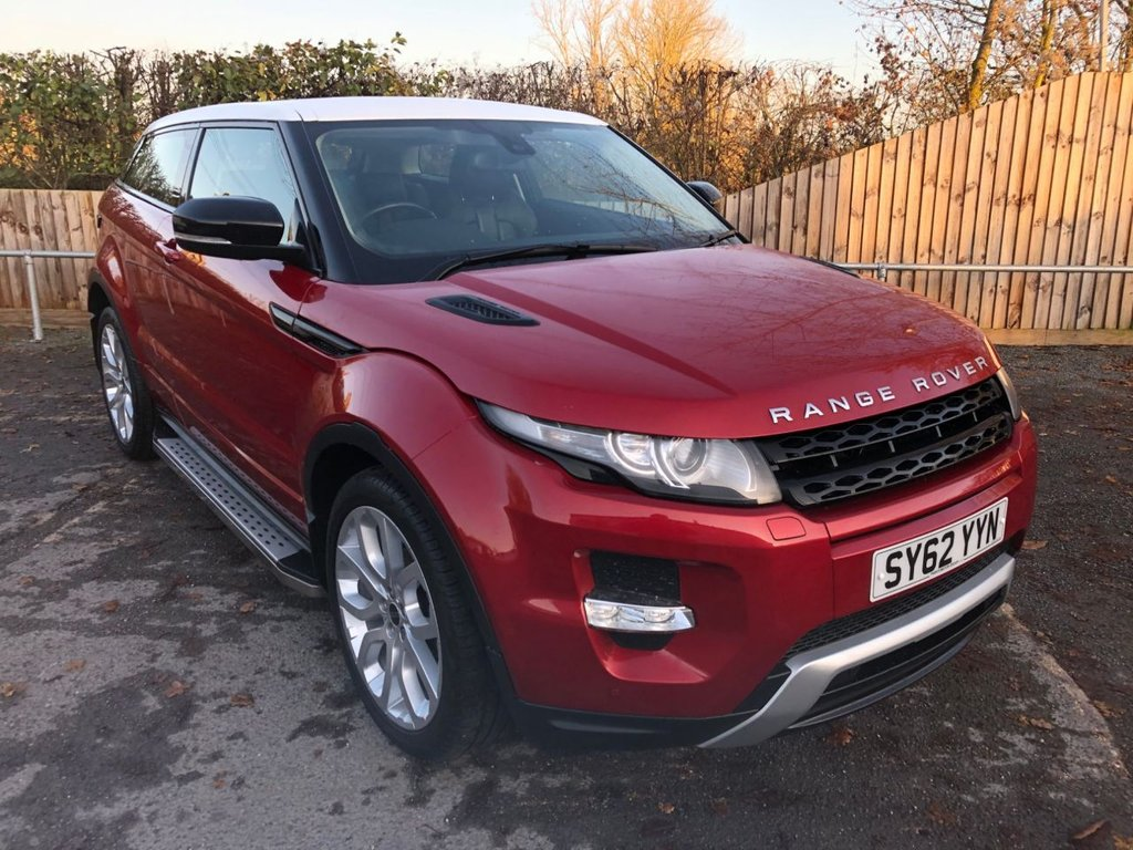 USED 2012 62 LAND ROVER RANGE ROVER EVOQUE 2.2 SD4 DYNAMIC (190 BHP)