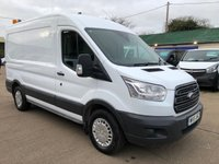 USED 2015 15 FORD TRANSIT 2.2 350 TREND MWB MED ROOF 125 BHP