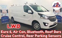 2018 VAUXHALL VIVARO 1.6 CDTI 2900 SPORTIVE 120 BHP LONG WHEEL BASE with Air Conditioning, Bluetooth, Cruise Control, Roof Bars, Rear Parking Sensors, Euro 6 and more £11980.00