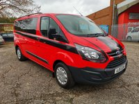 2015 FORD TRANSIT CUSTOM 330 KOMBI 5 SEAT DAY VAN ONLY 8000 MILES £15000.00