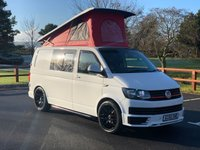 "USED 2016 65 VOLKSWAGEN TRANSPORTER 2.0 T28 TDI P/V STARTLINE BMT 101 BHP FULL SERVICE HISTORY, VERY CLEAN CAMPER CONVERSION, POP TOP, GAS HOB, SINK, ROCK AND ROLLER BED, SOLAR PANEL.20"" RIVA ALLOY WHEELS, FRIDGE"
