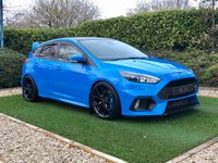 USED 2016 66 FORD FOCUS 2.3 RS 5d 346 BHP A Stunning Example Finished Nitros Blue Metallic with a Host of Fantastic Performance Upgrades Costing Around £5000 Pristine Black Leather / Alcantara Recaro Shell Sports Seats + Contrast Blue Stitch, HDD Satellite Navigation + Bluetooth Connectivity + DAB Radio + Sony Premium Sound + Multi Media Interface, Automatic Bi-Xenon Headlights + Power Wash, 19 Inch Gloss Black Forged Alloy Wheels + Nitros Blue Brembo Brake Calipers, Front and Rear Park Distance Control +