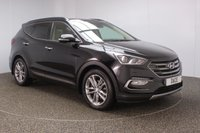 USED 2016 16 HYUNDAI SANTA FE 2.2 CRDI PREMIUM SE BLUE DRIVE 5DR 7 SEATS 197 BHP FULL SERVICE HISTORY + FRONT/REAR HEATED LEATHER SEATS + HEATED/COOLED FRONT SEATS + 7 SEATS + SATELLITE NAVIGATION + ELECTRIC PANORAMIC ROOF + PARK ASSIST + REVERSE CAMERA + PARKING SENSOR + HEATED STEERING WHEEL + BLUETOOTH + CRUISE CONTROL + CLIMATE CONTROL + LANE ASSIST SYSTEM + INFINITY PREMIUM SPEAKERS + MULTI FUNCTION WHEEL + ELECTRIC/MEMORY SEATS + XENON HEADLIGHTS + PRIVACY GLASS + DAB RADIO + ELECTRIC WINDOWS + ELECTRIC MIRRORS + 19 INCH ALLOY WHEELS