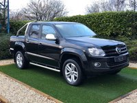 USED 2016 66 VOLKSWAGEN AMAROK 2.0 DC TDI HIGHLINE 4MOTION 180 BHP A Fantastic Example with all the Desirable Options Including Chrome A Bars and Side Tubes These Highlines are Luxuriously Appointed Throughout with Full Black Heated Leather Seats and Sat Nav with Reverse Camera The Load Area is Unmarked Fully Carpeted and as a Lockable Roller Shutter which Suggests this Vehicle as had Light Car Type Use and is NOT to be Confused with Heavy Worked Examples This Truck with Full VW Service History asJust Been Prepared and Serviced for Retail Sale by VW Main Dealer