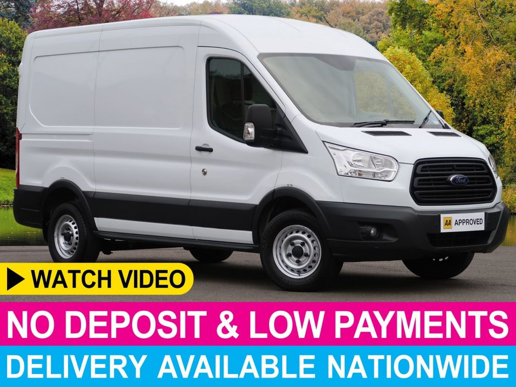 USED 2015 15 FORD TRANSIT 2.2 TDCI MWB 330 L2H2 FWD PANEL VAN PARKING SENSORS BULK HEAD