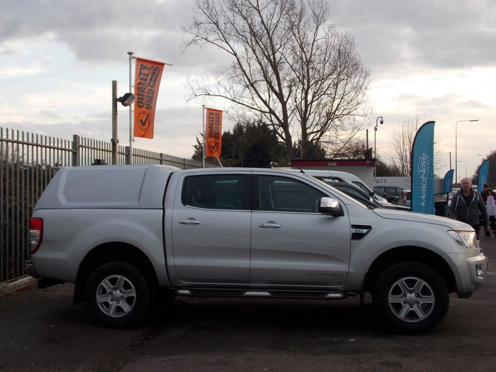 USED 2014 14 FORD RANGER 2.2 LIMITED 4X4 DCB TDCI 4d 148 BHP