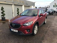 USED 2014 14 MAZDA CX-5 2.2 D SPORT NAV 5d 148 BHP FULL SERVICE HISTORY-8 STAMPS-REVERSE CAMERA-SAT NAV-BLUETOOTH-£30 ROAD TAX-LEATHER UPHOLSTERY-HEATED SEATS