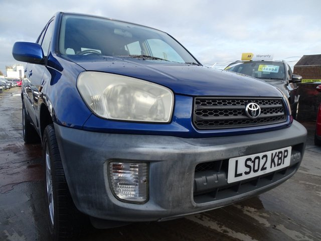USED 2002 02 TOYOTA RAV4 2.0 NV VVT-I 5d 146 BHP 1 YEAR MOT INCLUDED