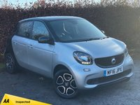 USED 2016 16 SMART FORFOUR 0.9 PRIME T 5d 90 BHP * 128 POINT AA INSPECTED * 12 MONTHS AA BREAKDOWN COVER *