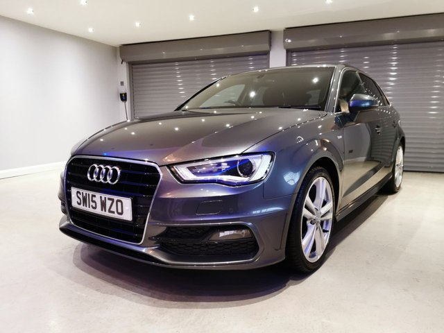 USED 2015 15 AUDI A3 1.4 TFSI S LINE 5d 148 BHP SATELLITE NAVIGATION + FRONT & REAR PARKING SENSORS + PRIVACY GLASS